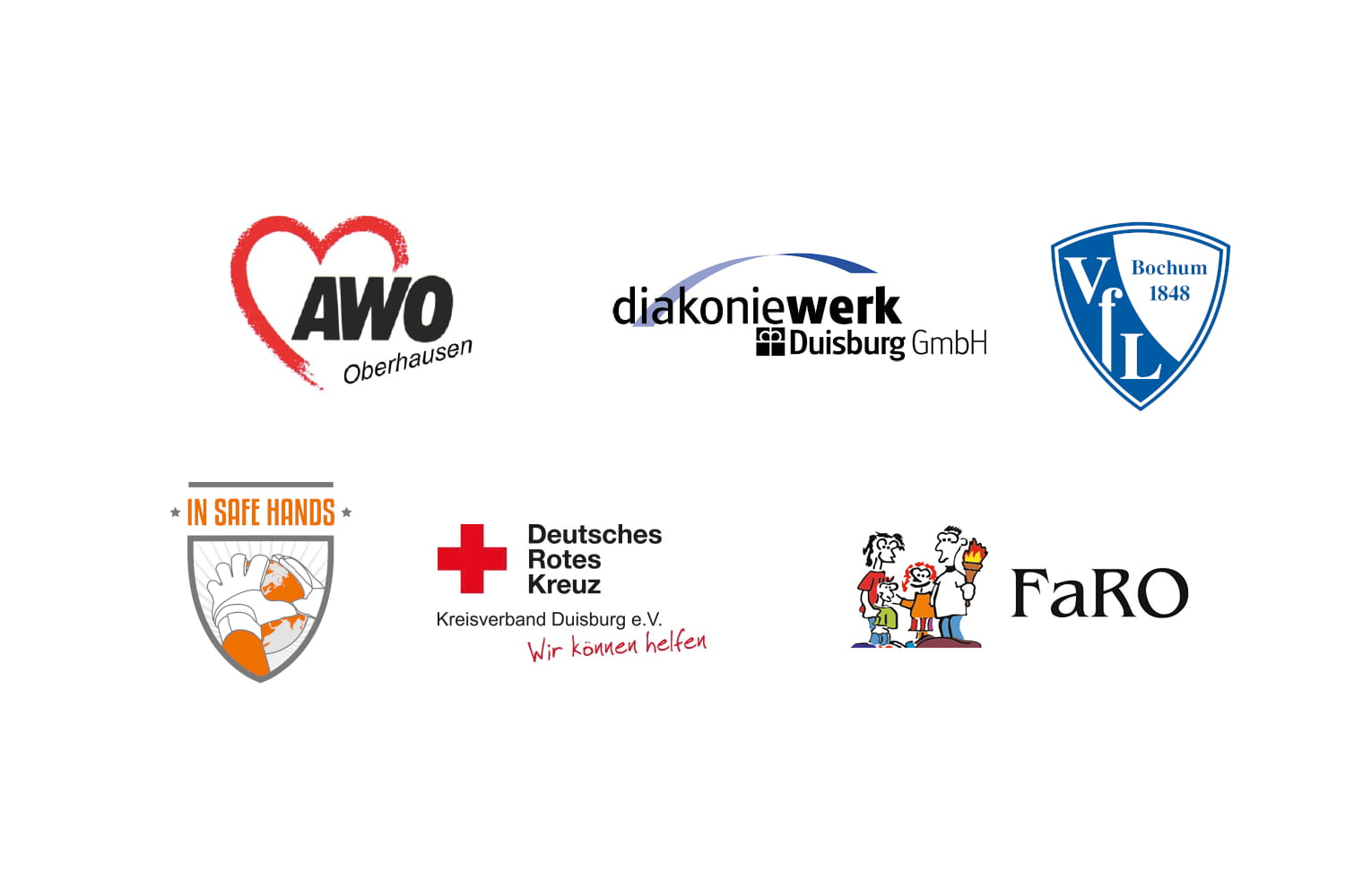 Collage mit Logos der Training & Consulting-Kunden (Quelle: Kunden, Kindernothilfe).